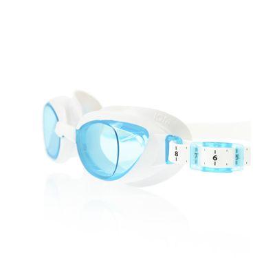 Speedo Aquapure Ladies Goggle white blue - close up