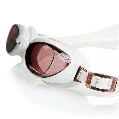 Speedo Aquapure Ladies Goggle white brown - close up