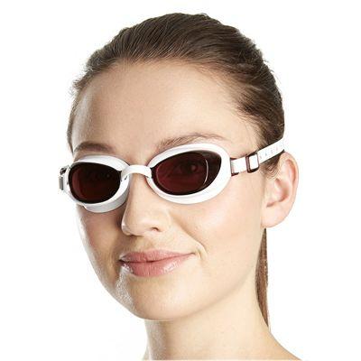 Speedo Aquapure Ladies Goggle white brown - main image