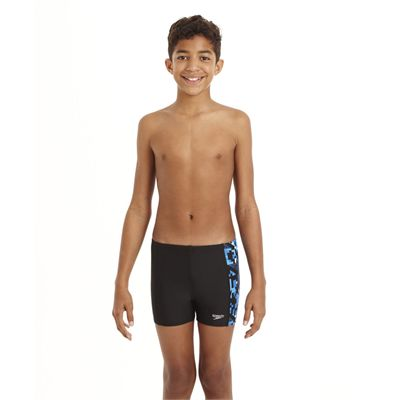 Speedo ArrowJet Allover Panel Boys Aquashort - Front View