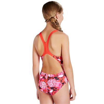 Speedo Astro Fizz Allover Splashback Girls Swimsuit - Back