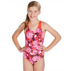 Speedo Astro Fizz Allover Splashback Girls Swimsuit