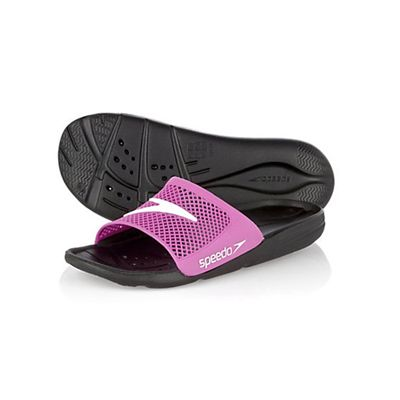 Speedo Atami Slide Ladies Swimming Sandals Black Pink