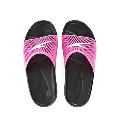 Speedo Atami Slide Ladies Swimming Sandals Black Pink Two Sandals