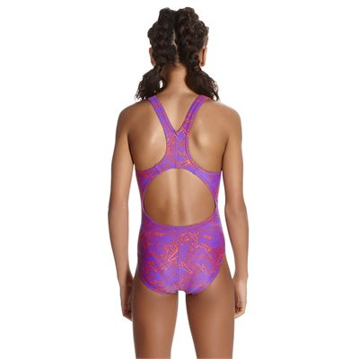 Speedo Boom Allover Splashback Girls Swimsuit AW17 - Back