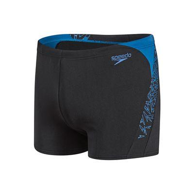 Speedo Boom Splice Mens Aquashort-Black and Blue