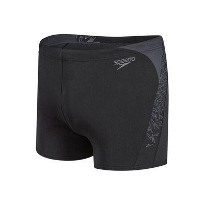 Speedo Boom Splice Mens Aquashort-Black and Grey