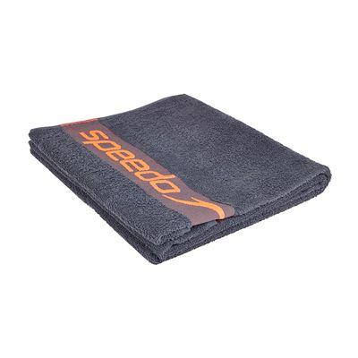 Speedo Border Towel-Grey-Red-Folded