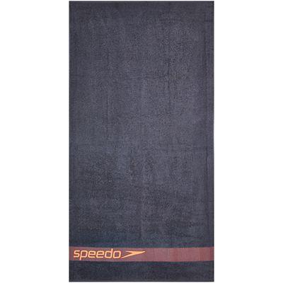 Speedo Border Towel-Grey-Red