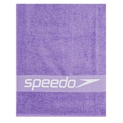 Speedo Border Towel-Purple-White-Logo