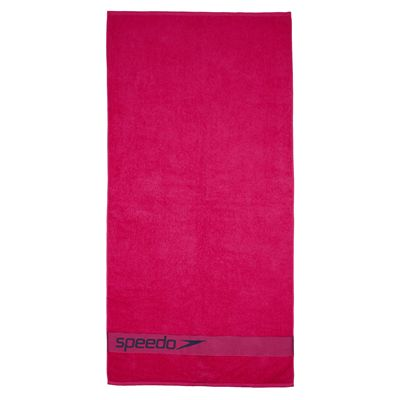Speedo Border Towel - Red