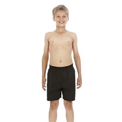 Speedo Challenge 15 Inch Boys Watershort - Black - Front View