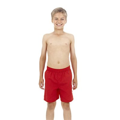 Speedo Challenge 15 Inch Boys Watershort - Red -