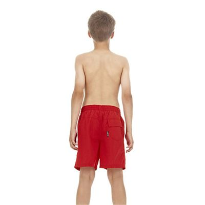 Speedo Challenge 15 Inch Boys Watershort - Red - Back View