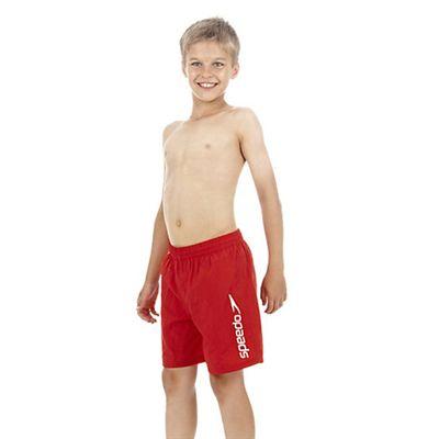Speedo Challenge 15 Inch Boys Watershort - Red