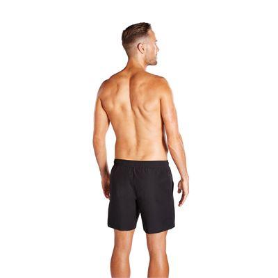 Speedo Check Trim Leisure 16 inch Mens Watershort - Black - Back