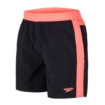 Speedo Colour Block 16 inch Mens Watershorts-Black-Pink