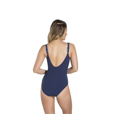 Speedo Contourluxe 1 Piece Ladies Swimsuit - Blue - Back