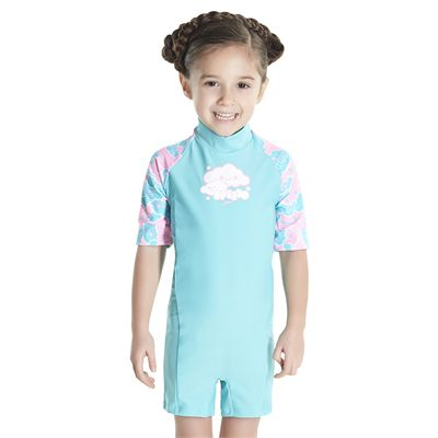 Speedo Cosmic Cloud Essential All in One Infant Girls Swimsuit - Front