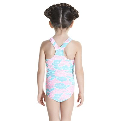 Speedo Cosmic Cloud Essential All Over Infant Girls Swimsuit - Back