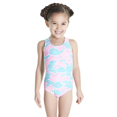 Speedo Cosmic Cloud Essential All Over Infant Girls Swimsuit - Front