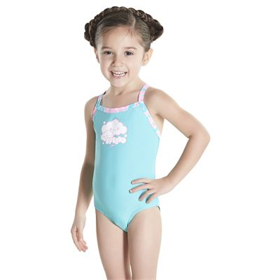 Speedo Cosmic Cloud Essential Thinstrap Infant Girls Swimsui - Angled