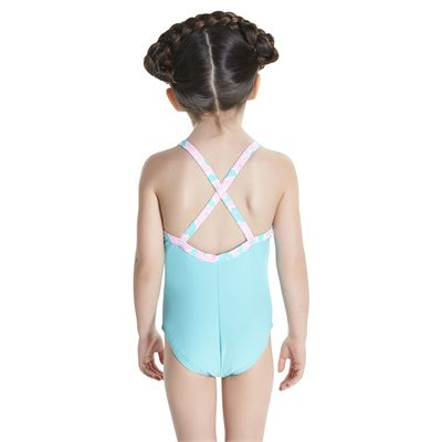 Speedo Cosmic Cloud Essential Thinstrap Infant Girls Swimsui - Back