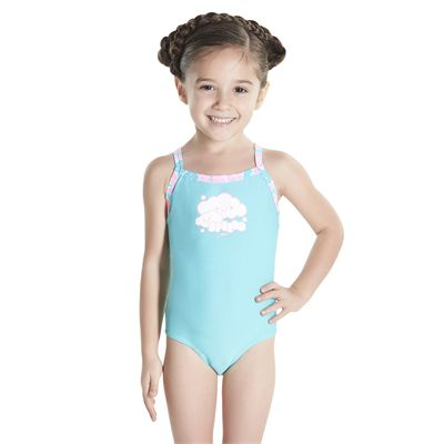 Speedo Cosmic Cloud Essential Thinstrap Infant Girls Swimsui - Frontt