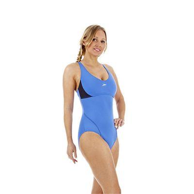 Speedo Cystalflow Adjustable 1 Piece Ladies Swimsuit Side
