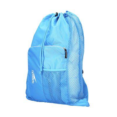 Speedo Deluxe Ventilator Mesh Pool Bag - Blue - Angled