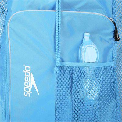 Speedo Deluxe Ventilator Mesh Pool Bag - Blue - Zoomed