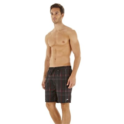 Speedo Downstream Printed Check 18Inch Watershort - Side