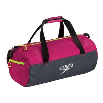 Speedo Duffle Bag-Pink-Grey