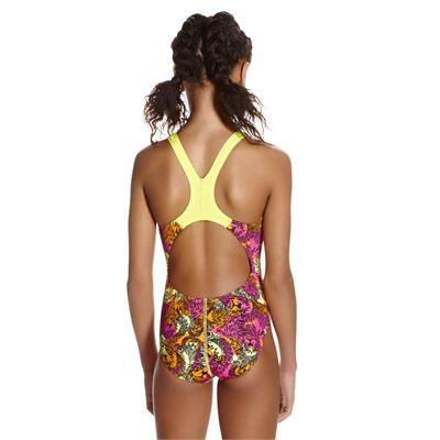 Speedo Electric Ball Allover Splashback Girls Swimsuit - Back