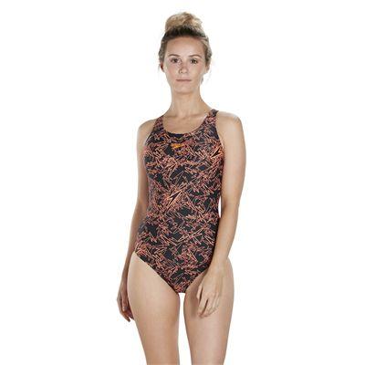 Speedo Endurance 10 Boom Allover Muscleback Ladies Swimsuit SS18