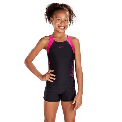 Speedo Endurance 10 Boom Splice Girls LegsuitSpeedo Endurance 10 Boom Splice Girls Legsuit - Front
