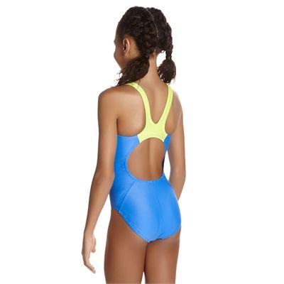 Speedo Endurance 10 Boom Splice Muscleback Girls Swimsuit - Back
