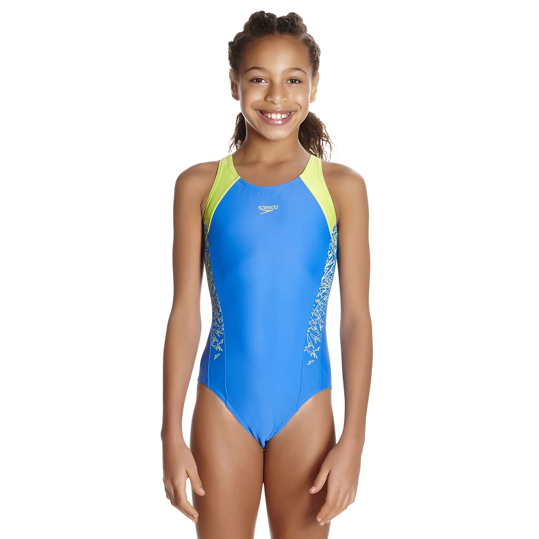Speedo Endurance 10 Boom Splice Muscleback Girls Swimsuit
