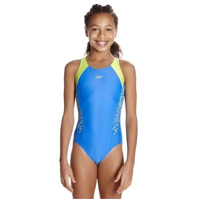 Speedo Endurance 10 Boom Splice Muscleback Girls Swimsuit - Front