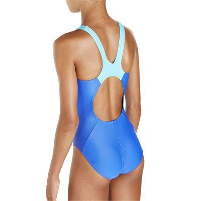 Speedo Endurance 10 Boom Splice Muscleback Girls Swimsuit SS18 - Back