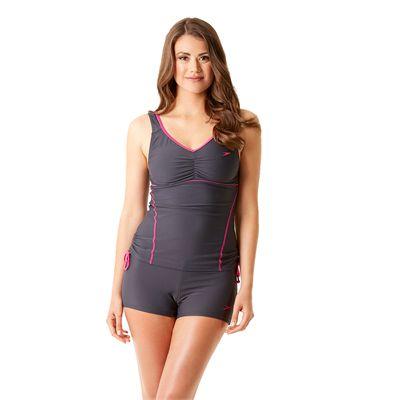 Speedo Endurance 10 Essential Crystalrain Ladies Tankini - Front View