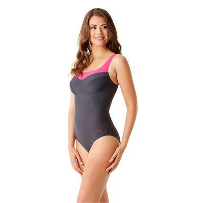 Speedo Endurance 10 Essential Jetspa Ladies Swimsuit - Left Side View