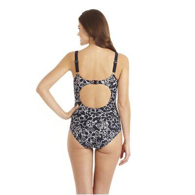 Speedo Endurance 10 Jetspa Printed 1 Piece Ladies Swimsuit - Back View