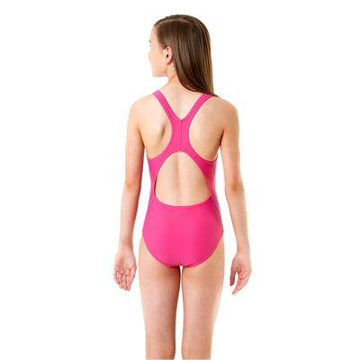 Speedo Endurance 10 Logo Splashback Girls Swimsuit - Back View