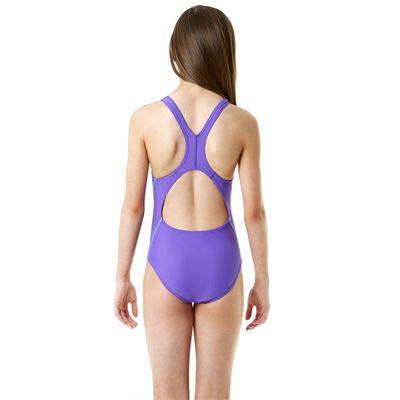 Speedo Endurance 10 Logo Splashback Girls Swimsuit - Back