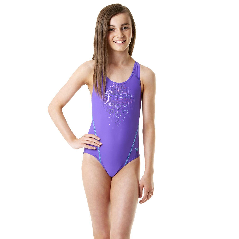 Speedo Endurance 10 Logo Splashback Girls Swimsuit