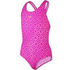 Speedo Endurance 10 Monogram Allover Splashback Girls Swimsuit