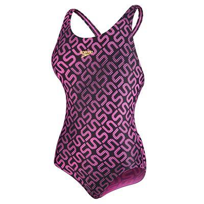 Speedo Endurance 10 Monogram Allover Splashback Girls Swimsuit - Main Image