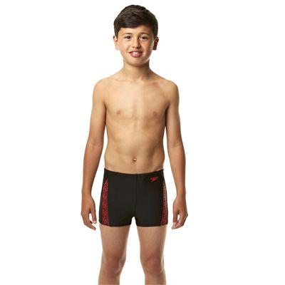 Speedo Endurance 10 Monogram Boys Aquashorts SS14 - Black/Pink