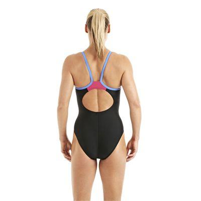 Speedo Endurance 10 PowerFlash Thin Strap Muscleback Ladies Swimsuit black 2